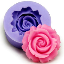 3D Silicone Rose Fondant Mold Pasrty Cake Decorating Mould Baking Tool Bakeware - $6.22