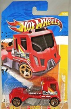 2011 Hot Wheels #19 New Models 19/50 RENNEN RIG Red Color Variation w/Gold 5 Sp - $6.25