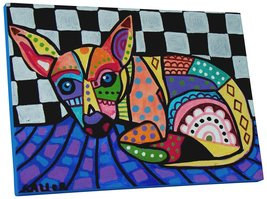 """Pingo World 0413Q3K7OHS """"Heather Galler Chihuahua III Dog"""" Gallery Wrapp... - $53.41"""
