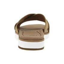 UGG Kari Gold Metallic Leather Cross Strap Strappy Sandals Size 6 NIB - $73.76