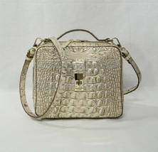 NWT Brahmin Evie Leather Satchel/Shoulder Bag in Sugar Cane Melbourne - $239.00