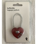 Red Heart Combination Travel Luggage PadLock Small - $7.91