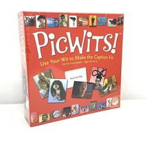 PicWits! Caption Board Game By MindWare New Sealed - FUN! - - $10.99