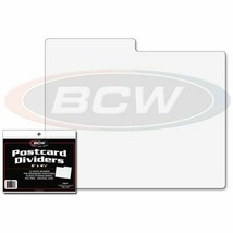 40x BCW POSTCARD DIVIDERS - 6 x 4 with a Tab WHITE PLASTIC 1-PCD - $29.39