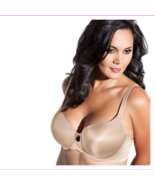 Curvy Couture Lace Shine T-Shirt Bra in Bombshell Nude, 42D (605609) - $17.60