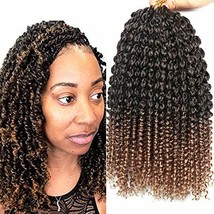 5 Packs 14 Inches Senegalese Spring Twist Crochet Braids with Curly Ends... - $28.01