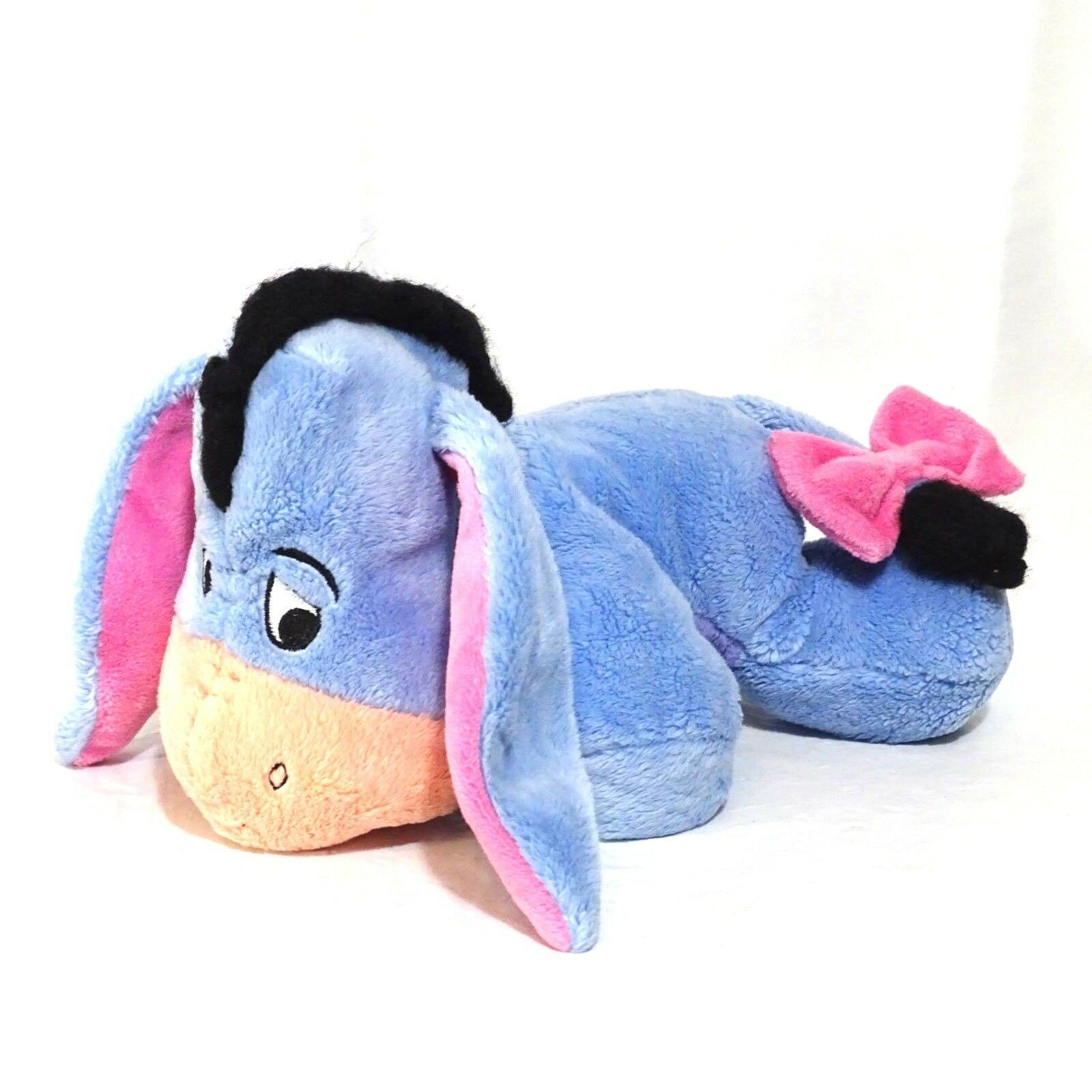 Disney Winnie the Pooh Eeyore Stuffed Plush Toy Blue Pink  image 1
