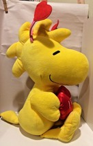 "Woodstock Peanuts Gang Plush Toy Doll w/Red Heart/I Love You 15""-18"" - $14.80"