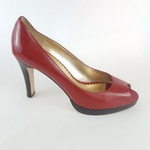 Jessica Simpson Abby Pumps Red Patent Leather Peep Toe Women's 8.5B - $28.04