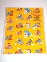 Vintage American Greetings Get Along Gang Transportation Wrapping Paper ... - $3.68