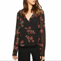 Bardot Womens Mira Wrap Top In Red Black Floral New 6 - $21.55