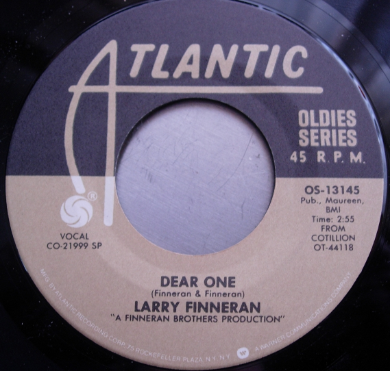 THE EARLS - Eyes / LARRY FINNERAN - Dear One - Atlantic OS-13145