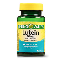 Spring Valley Lutein 20mg with Zeaxanthin, Eye Health, 90 softgels - $28.88