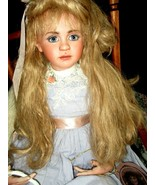 "1992 Jan McLean PRIMROSE I 36"" Porcelain Doll in Rocking Chair Ltd to 100 SIgned - $1,475.00"