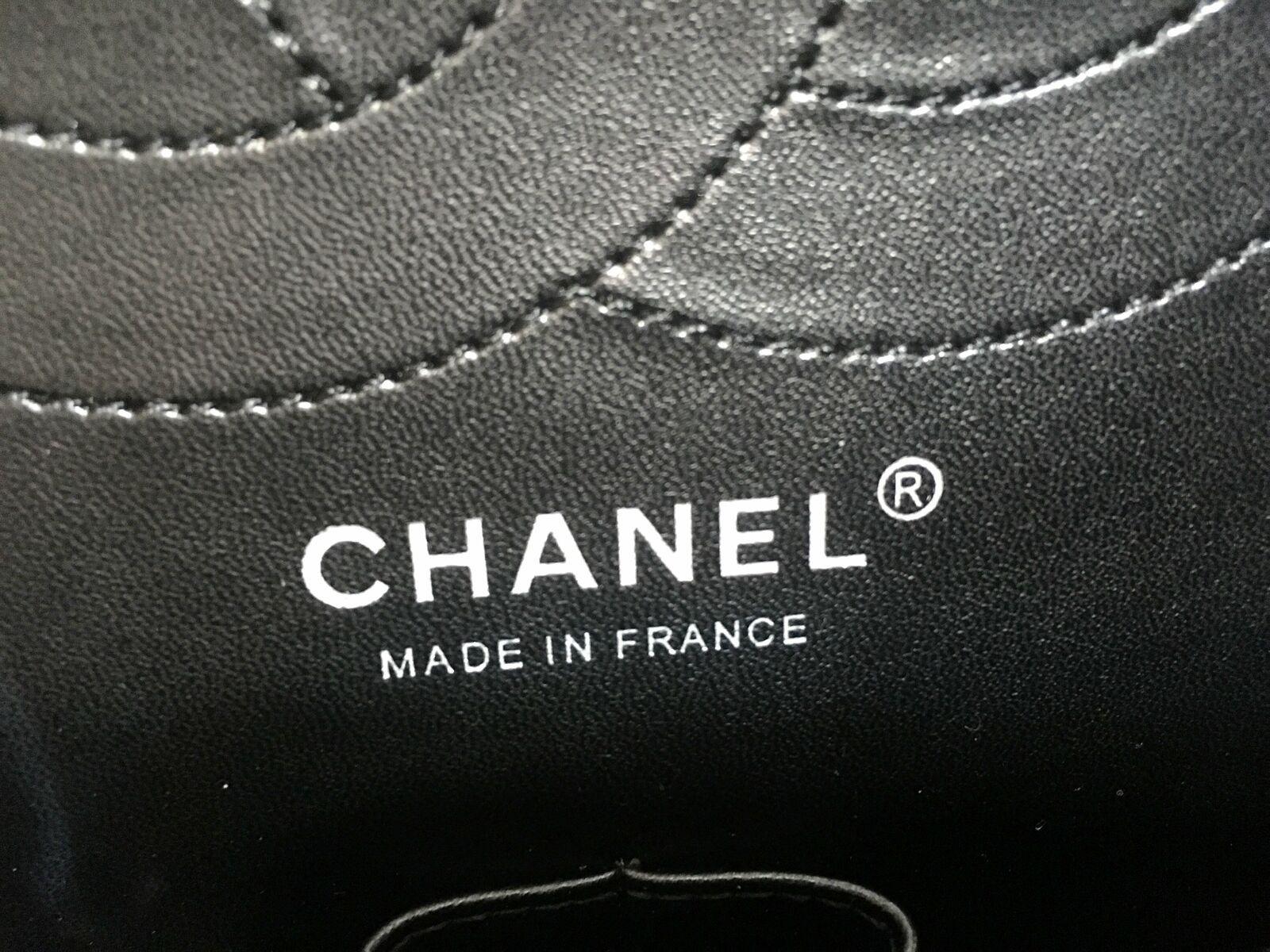 Chanel Patent Leather Jumbo Classic Double Flap Handbag Black