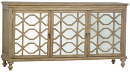 Farmhouse Sideboard Buffet Cabinet  Distressed Antique Mirror Front,68''... - $1,579.05