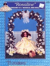 "Rosaline 9.5"" Musical Bed Doll Outfit Crochet PATTERN - 30 Days To Pay! - $4.47"