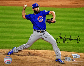 JAKE ARRIETA Signed Chicago Cubs 2016 World Series Pitching 8x10 Photo -... - $444.51