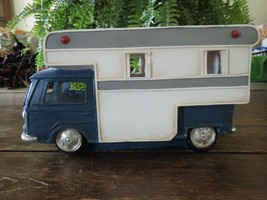 NEW Room & Retreat Huge Polyresin Blue White Camper Van Travel Adventure... - $53.35