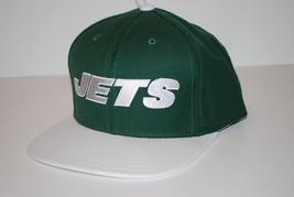 NY New York Jets Reebok NFL Football Flatbrim Wordmark Snapback Cap Hat - $20.85