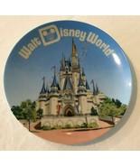 "Walt Disney World Magic Kingdom Souvenir Decorative Plate 6.25"" Blue Vin... - $29.99"