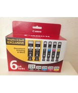 6-Pack Genuine CANON (2) PGI-225 PGBK & CLI-226 BK/C/M/Y Ink Cartridges - $67.99