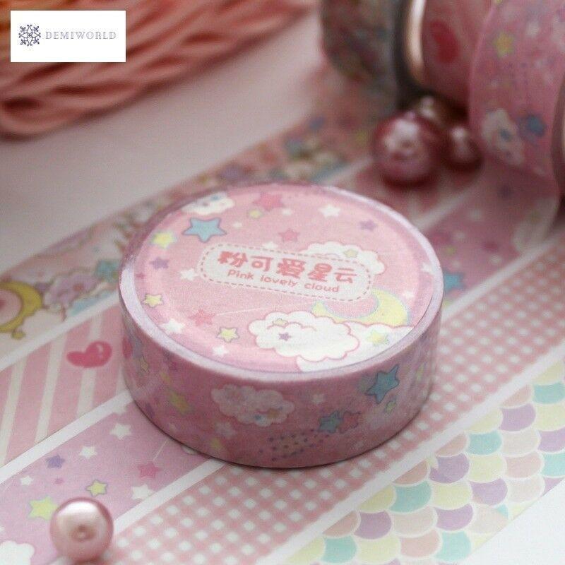 Pink Fairy Washi Tape DIY Decor Planners Scrapbooking Sticker Making Paper Decor
