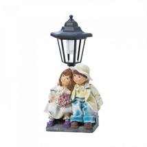 Couple With Solar Street Light Statue - $33.72