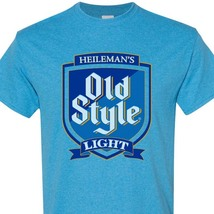 Old Style Light Beer blue T-shirt Heilemans vintage style cotton blend tee image 1