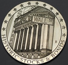 Huge Wall Street Silver Plated 50mm Proof Medallion~Standard Oil~Rockefe... - $78.39