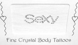 SEXY Crystal Body Word Tattoo SEXY - $6.99