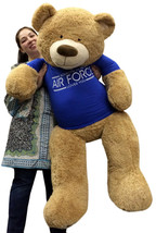 Giant Air Force 5 Ft.Teddy Bear Soft In Tshirt Someone In The Air Force Loves You - $127.11