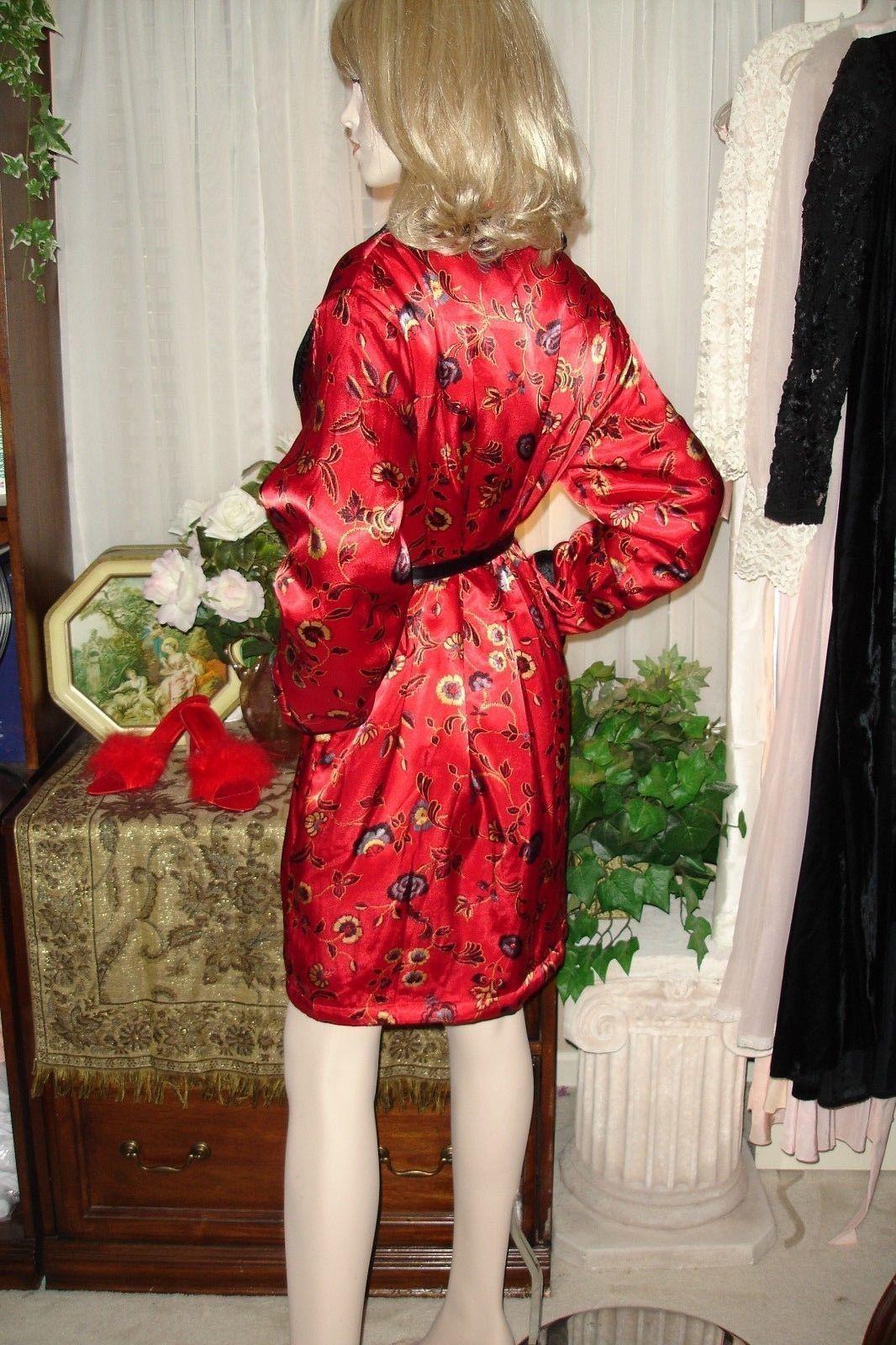 Charter Club Robe Quilted Long Wrap Robe DITSY DOT S XL 2XL L 3XL