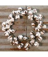"Cotton Ball Wreath  22"" Welcome Fall Door Wall Gifting  - $49.99"