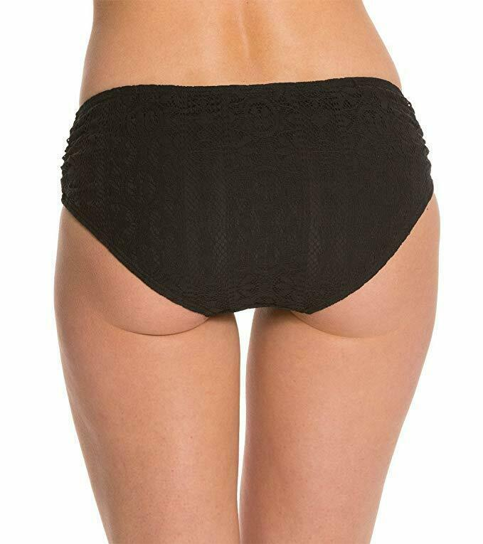 Coco Reef Bikini Bottom Sz S Black Side Shirred Swimwear Swim Bottoms U48642