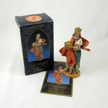 Fontanini Wise Man Melchior Gold Nativity Figure Vintage 1992 Christmas ... - $24.74