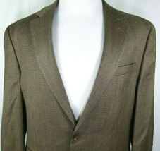 RALPH Ralph Lauren Sport Coat Size 44 Long Silk Blend Brown Black Hounds... - $45.49