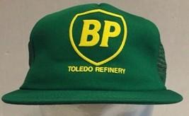 Vintage BP Toledo Refinery Snapback Mesh Trucker Hat Cap USA Green Gas Oil - $28.04