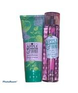 Bath Body Works Apple Blossom Lavender Fine Body Mist Spray Cream Lotion... - $35.00