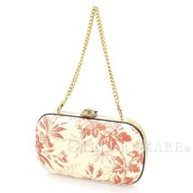 GUCCI Pouch with Chain Beige Pink Canvas Bag 409809 Italy Authentic 4825906 - $790.15