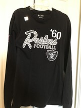 Team Oakland Raiders NFL Team Apparel Cotton Long Sleeved Black Tee Size... - $14.20