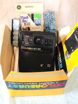 Polaroid Camera Kodak Colorburst 50 Instant Film Vintage Flash 1979 - $17.93