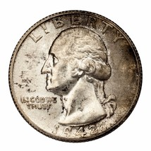 1942-S Silver Washington Quarter 25C (Choice BU Condition) Full Mint Luster - $89.09