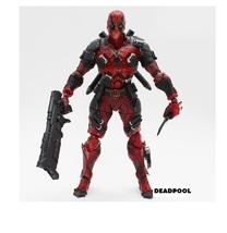 Deadpool Figure X-Men Marvel Universe Play Arts Kai Weapon PVC Action Fi... - $87.99
