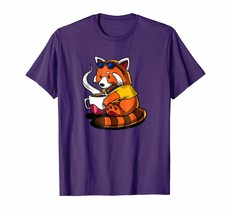 Dad Shirts -  Red Panda Shirt Women Cute Bear Coffee Lover Funny Gift Men - $19.95+