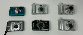 LOT of (6) Digital Cameras FOR PARTS AS-IS Canon Olympus A630 Stylus Tough - $18.99