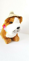 "Vintage Dakin Hawaiian Bull Dog Lei Plush Toy with original tags 1985 8"" - $18.69"