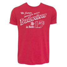 Budweiser Old School Tee Shirt Red - $24.98