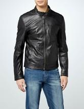 Men's Genuine Lambskin Leather Jacket Black Slim fit Biker Motorcycle ja... - $49.49+