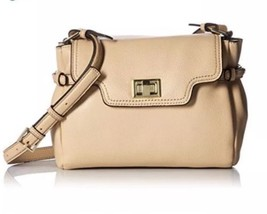 Calvin Klein Ashley Pebbled Leather Crossbody Nude Retail $198 - $89.00